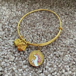 Alex and Ani Gold/Pink Unicorn Bracelet
